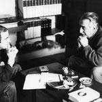Jacques Henric s'entretenant avec Roland Barthes