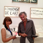 Catherine Millet et Bernard-Henri Lévy Saint Paul expo BHL