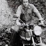 Jacques Henric, Première moto, Triumph