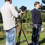 Björn Kempcke (links) und Hannes Wirtz vom Portal BEI UNS IN NEU WULMSTORF.DE