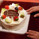 サプライズケーキまで(^^♪  たくさんの「がんばれ」をありがとうございました