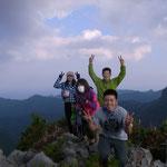 周囲の山の山頂で高さが分かりますね~♪ 思わず「やっほ~~~!!」