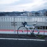 朝チャリ ゴール間近! 西郷大橋です。 飯田→有木→西田農道→岬一周