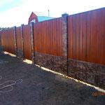 Забор из профнастила для дачи в Волоколамском районе