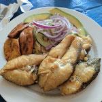 Fischgericht im Cas di Piscado Purunchi