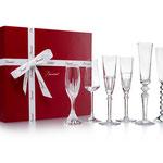 "Baccarat ""Bubble Box"" Champagner 6-teiliges Gläserset"