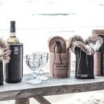 Champagner-/Weinkühler aus Schafffell