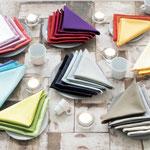 "Serviette ""Confettis"" diverse Farben"