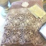 Arte Pura Handtücher mit Spitzenbordüre rosenholzfarben