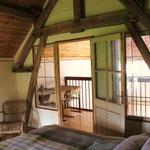 Slaapkamer boven met tweepersoonsbed