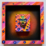 """""""Sunset"""" By Shalak Attack, 3D mixed media on wood, 2013, Canada  (Original available for Purchase)"""