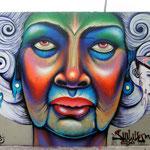 """Abuelita""  Mural by Shalak, Sao Paulo, Brazil. 2013"