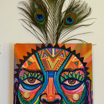 """""""Carter Colorida 2"""" By Shalak, Mixed Midia on Canvas, 2013, Canada (Sold - Private Collector - Sweden)"""