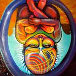 """Womb""  Mural by Shalak.   Sao Paulo, Brazil. 2011"