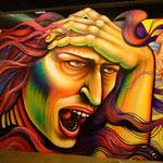 """Idle No More"" Graffiti by Shalak.   For the 2º Bienal Graffiti Fine Art (GFA) at the Museo Brasileiro da Escultura (MUBE), Sao Paulo, Brazil.  January, 2013."