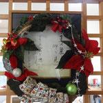玄関に飾られたリース