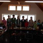教会学校の先生と子どもたちの暗唱聖句