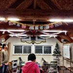 12月9日教会内、飾りつけの追加