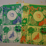 虫と四季の草花