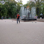 ich vor dem Springbrunnen