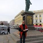 Duc de Richelieu Statue  mit mir:)