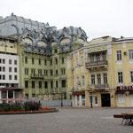 Big Moskau Hotel von hinten