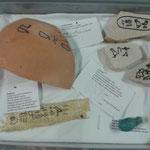 Fundstücke der Ausgrabung