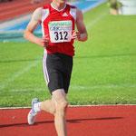 Auf dem Weg zu meiner 1. Deutschen Meisterschaft + Rekord ; 2000 m  bei 40°C ;-( Foto:Kai Peters
