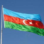 Nationalflagge Aserbaidschan