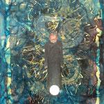 Acrylique, encre sur toile, 110x75cm