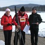 Siegerehrung Skiläufer