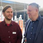 Stefan Ziller (Grüne Fraktion im Abgeordnetenhaus) und Lutz Neumann (Bezirks-Journal)
