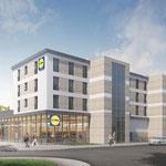 28. November: Für den neuen Lidl-Supermarkt am Kreisverkehr in der Hönower Straße wird der erste Spatenstich gesetzt. Das Besondere an dem Projekt ist, dass über der Einzelhandelsfläche 26 Wohnungen gebaut werden.