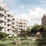 Mai: Die Bauarbeiten für 138 neue Mietwohnungen in der Hoyerswerdaer Straße 33 beginnen. Geplanter Fertigstellungstermin für das Vorhaben der Stadt und Land ist im Frühjahr 2022.