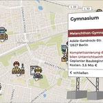 27. Januar: Auf www.tursics.de/story/schule-marzahn-2020/ geht eine interaktive Karte online, die einen Überblick über aktuelle und geplante Baumaßnahmen an den Marzahn-Hellersdorfer Schulen gibt.