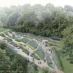 Die Gärten der Welt bekommen einen jüdischen Garten. Seit Oktober steht fest, wie die neue Grünoase im Erholungspark aussehen soll. Geplant ist, dass sich die 1.000 Quadratmeter große Anlage als netzartig angelegter Nutz- und Schaugarten präsentiert.
