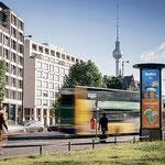 """6. Oktober: Die erfolgreiche Plakataktion """"Made in Marzahn-Hellersdorf"""" geht an 21 Standorten in der Berliner Innenstadt weiter. Im Zentrum der Kampagne stehen die Produkte von zwölf im Bezirk tätigen Unternehmen."""
