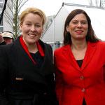 Ihr erster öffentlicher Termin als frischgebackene Familienministerin führt Dr. Franziska Giffey (SPD, Foto links) Ende März nach Marzahn-Hellersdorf in die Kita Abenteuerland (Altlandsberger Platz 4).