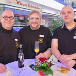 Ulli Ulbrich, Stephan und Carsten Fischer (alle Haus der Begegnung M3 e. V.)