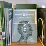 """16. Juni: Das Bezirksamt gibt das neue Buch """"erdacht & gemacht in Marzahn-Hellersdorf"""" heraus. Darin werden kreative und kluge Köpfe der Bezirksgeschichte vorgestellt."""