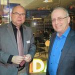Karsten Vettermann (Volkssolidarität) und Uwe Klett, Bezirksbürgermeister a. D.
