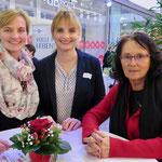 Ulrike und Juliane Gobes (Mittendrin leben e. V.) und Karin Büttner (Wirtschaftsagentur Berlin-Brandenburg)