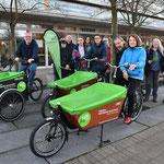 An zunächst zehn Standorten können Lastenräder im Bezirk kostenfrei ausgeliehen werden. © pressefoto-uhlemann.de
