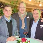 Tobias Glowatz (CDU-Fraktion in der BVV), Marcus Schmidt (Wuhlewanderer GmbH), Alexander J. Herrmann (CDU-Fraktionsvorsitzender in der BVV)