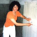 Verfliesung im Atelier, 1998