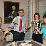 Dr. Menichetti, Dr. Kerschbaum, die Künstlerin, Mag. Kral