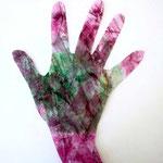 Handschablone aus selbstgemachtem Designpapier