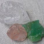 Bergkristall/Rosenquarz/Calcit