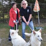 Natascha mit Kira und Klaus mit Shameera