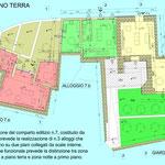 Riqualificazione urbana Acicatena - Comparto edilizio n.7 - Pianta piano terra